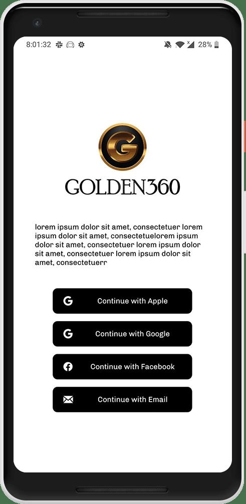 Android app screen Golden 360