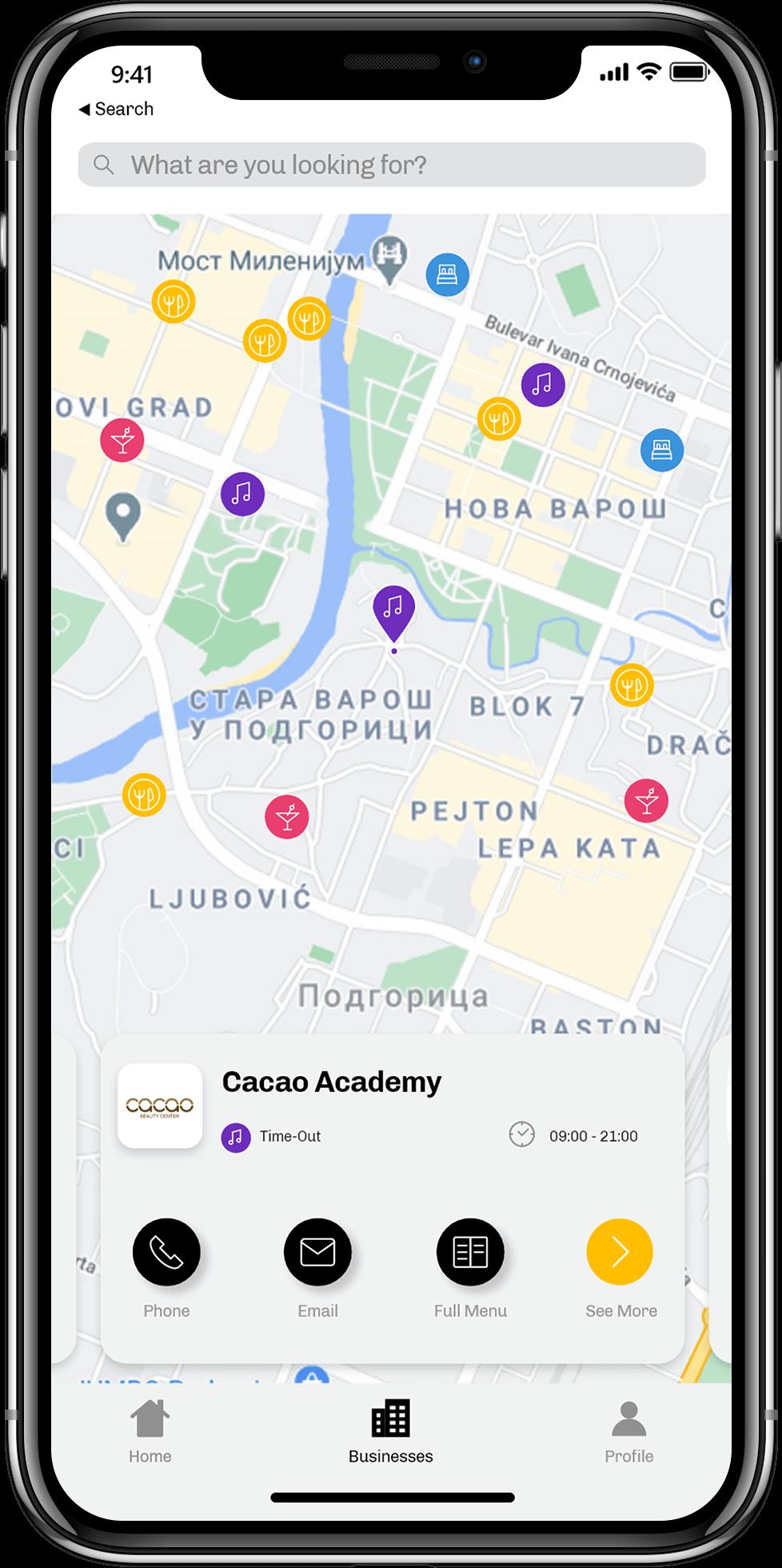 iOS app screen Golden 360