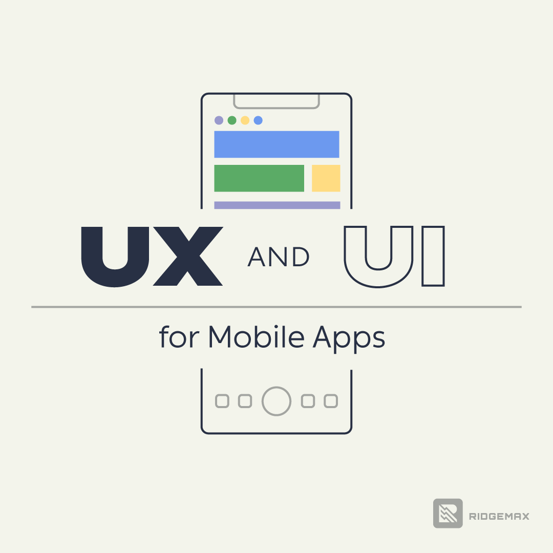 UX UI for mobile apps small illustration