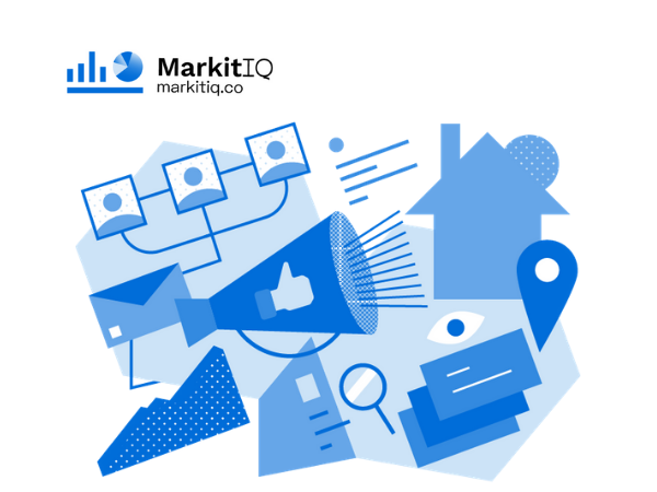 MarkitIQ Blue Custom Illustration
